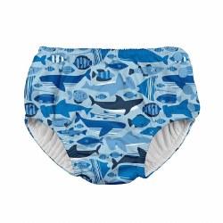 I Play -  Snap Reusable Swim Diaper - Blue Undersea 6M