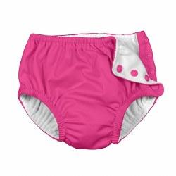 I Play -  Snap Reusable Swim Diaper - Hot Pink 6M