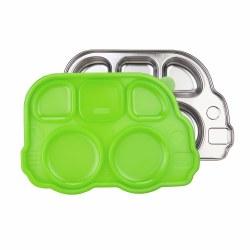 Inno Baby - Stainless Divided Platter Green