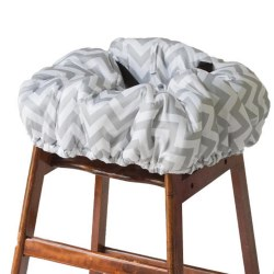 Itzy Ritzy - Shopping Cart and High Chair Cover - Grey Chevron