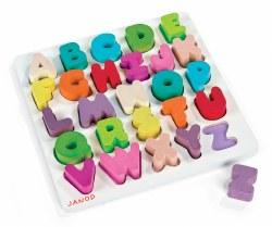 Janod -  I Wood Alphabet Puzzle