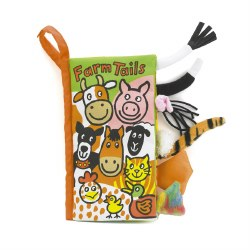 Jellycat - Soft Tails Book - Farm