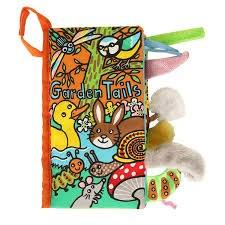 Jellycat - Soft Tails Book - Garden