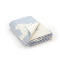 Jellycat - Bashful Blanket - Bunny Blue
