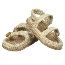 N L - Crochet Sandals - Khaki