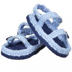 N L - Crochet Sandals - Light Blue
