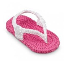 N L - Crochet Sandals - Pink/White