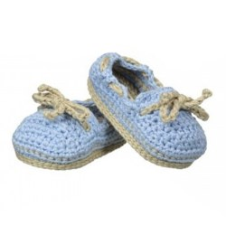 N L - Crochet Boat Shoes - Light Blue