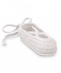 N L - Crochet Ballet Slippers - White