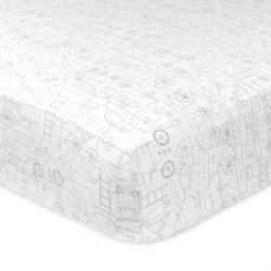 Just Born -  Crib Sheet - Transit Grey