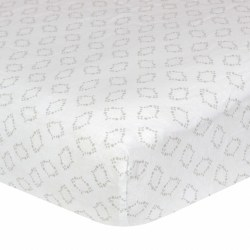 Just Born -  Woven Crib Sheet -  Grey Geo