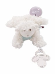 Kaloo - Les Amis Pacifier Holder- Lamb