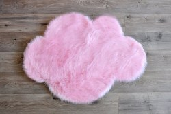 Rugs - Sheepskin Cloud Rug - Cotton Candy Pink