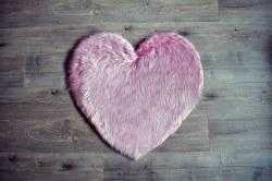 Rugs - Sheepskin Heart Rug - Vintage Pink