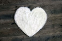 Rugs - Sheepskin Heart Rug - White