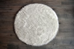 Rugs - Sheepskin Round Rug - White
