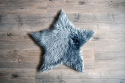 Rugs - Sheepskin Star Rug - Grey Large