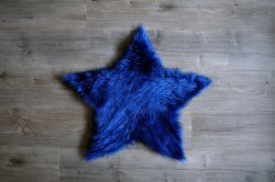 Rugs - Sheepskin Star Rug - Lapis Blue Large