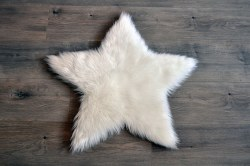 Rugs - Sheepskin Star Rug - White Small