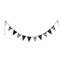 Kidiway - Garland Flags Decor - Black