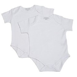 Kissy Kissy - Basic 2 Pack Short Sleeve Bodysuit White NB