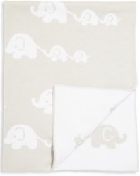 Kissy Kissy - Novelty Blanket - Elephant Grey