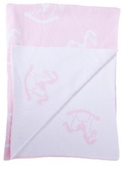 Kissy Kissy - Novelty Blanket - Rocker Pink