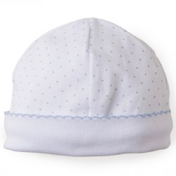 Kissy Kissy - Dots Print Hat White with Silver SM