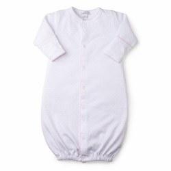 Kissy Kissy - Dots Converter Gown White/Pink NB