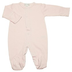 Kissy Kissy - Dots Print Footie Pink with White NB
