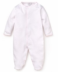 Kissy Kissy - Dots Print Footie White with Pink  NB