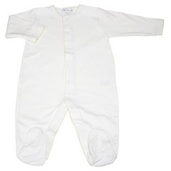Kissy Kissy - Dots Print Footie White with Yellow NB