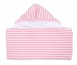 Kissy Kissy - Hooded Towel - Down The Shore Beach Pink