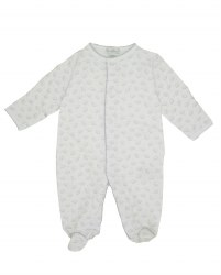 Kissy Kissy - Baby Elephants Footie Grey NB