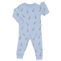 Kissy Kissy - Sophie La Girafe 2-Piece Print Pajamas - Blue 12-18M