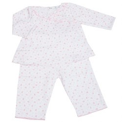 Kissy Kissy - Heart & Stars Pant Set with V Neck Tee Pink NB