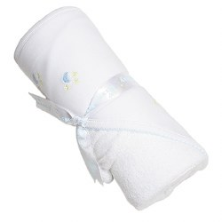 Kissy Kissy - Hooded Towel with Mitt - Homeward Bound  Light Blue