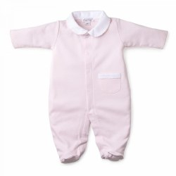 Kissy Kissy - New Beginnings Footie with Collar Pink NB