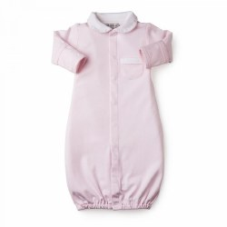 Kissy Kissy - New Beginnings Gown with Collar Pink NB