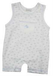 Kissy Kissy - Wee Whales Print Sleeveless Short Playsuit Blue 0-3