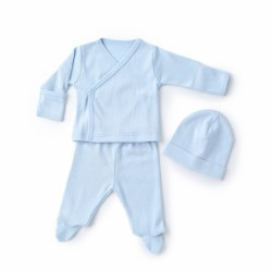 Kissy Kissy - Pointelle Take-Me Home Set - Blue NB