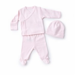 Kissy Kissy - Pointelle Take-Me Home Set - Pink NB