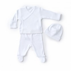 Kissy Kissy - Pointelle Take-Me Home Set - White NB