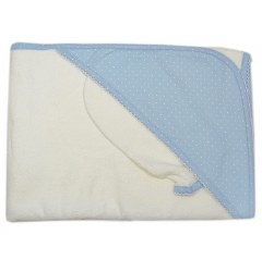 Kissy Kissy - Hooded Towel with Mitt - Dot Blue/White