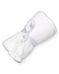 Kissy Kissy - Hooded Towel with Mitt - Dots - White/Blue