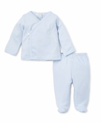Kissy Kissy - Footed Pant Set Stripes - Blue NB