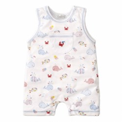 Kissy Kissy - Sleeveless Playsuit Whale of a Time - Blue 12-18M