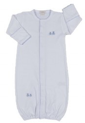 Kissy Kissy - Embroidered Gown Premier Classic  Bears - Blue NB