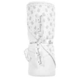 Kissy Kissy - Hooded Towel with Mitt Beloved Bear Towel - Silver