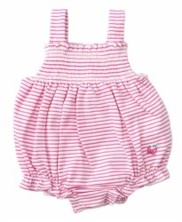 Kissy Kissy - Bubble Striped Whale of a Time - Pink 3-6M